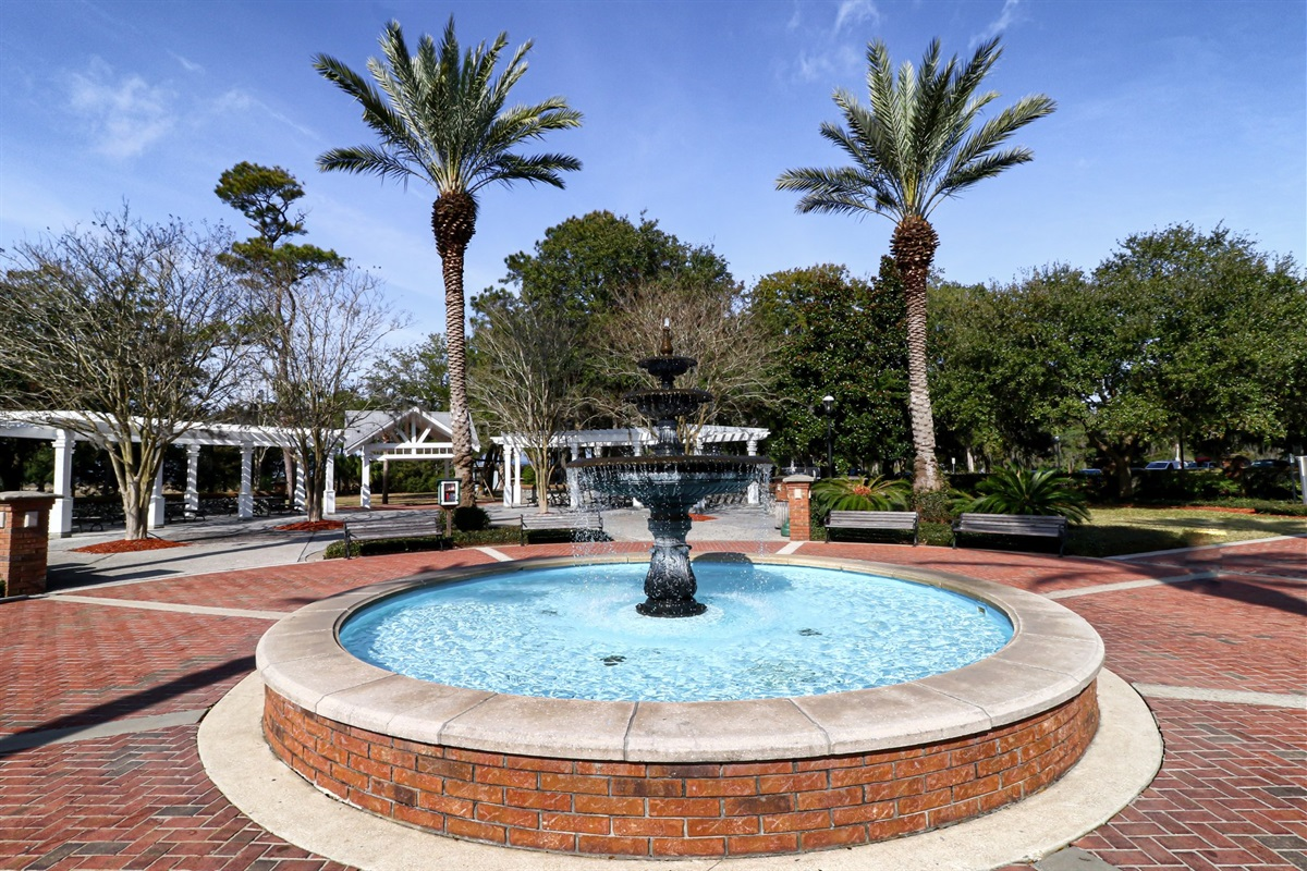 Fountain at Howard Gilman Waterfront Park