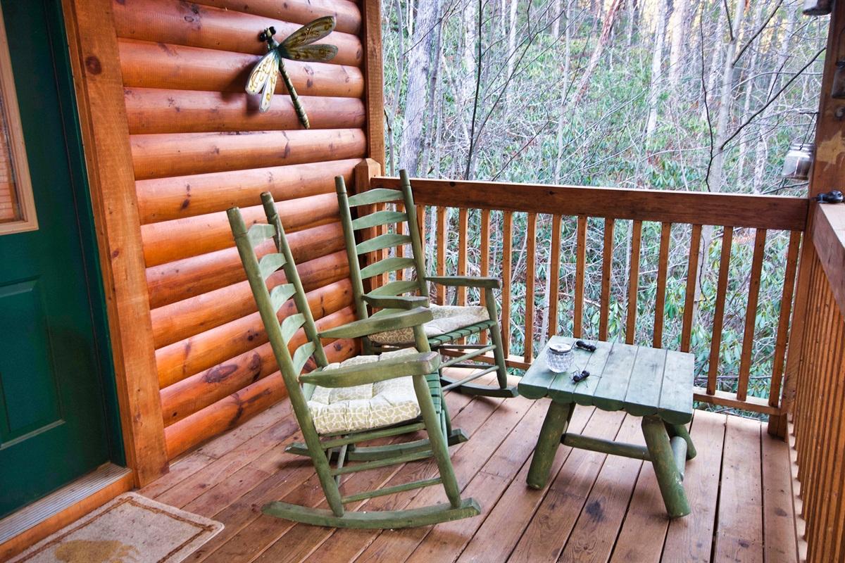 Upper deck sitting area