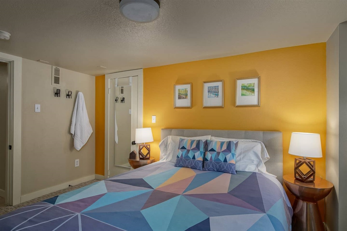Plenty of closet space in both bedrooms will help you feel right at home.