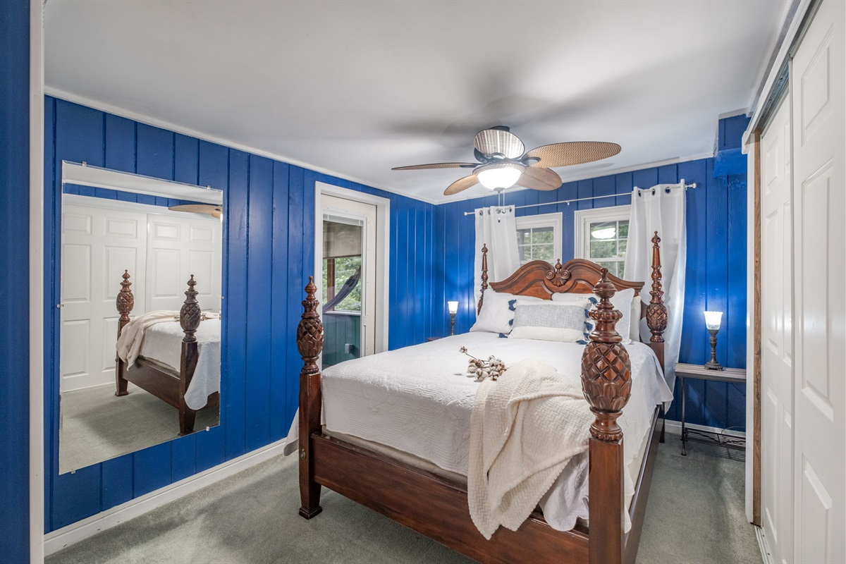 The Master Suite (#6) is a queen room with private screened porch an hammocks!