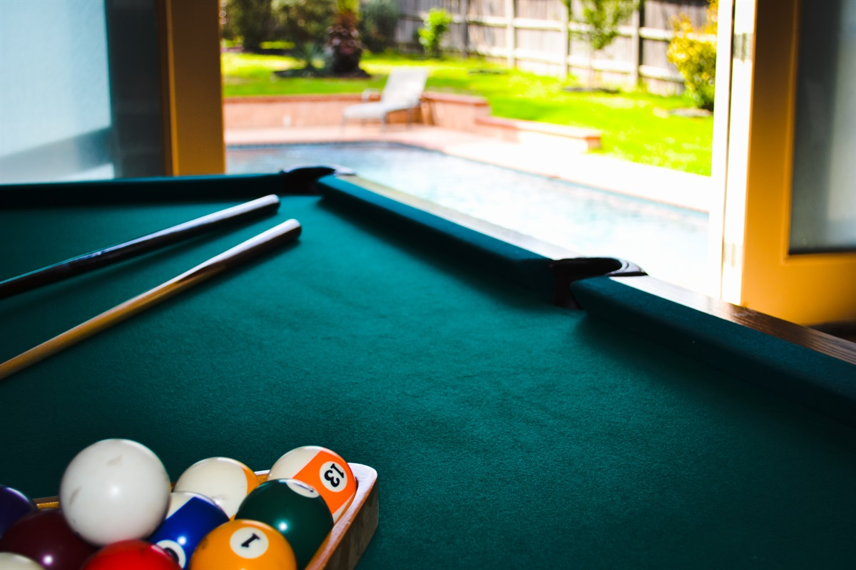 Pool time! -Billiards AND swimming!