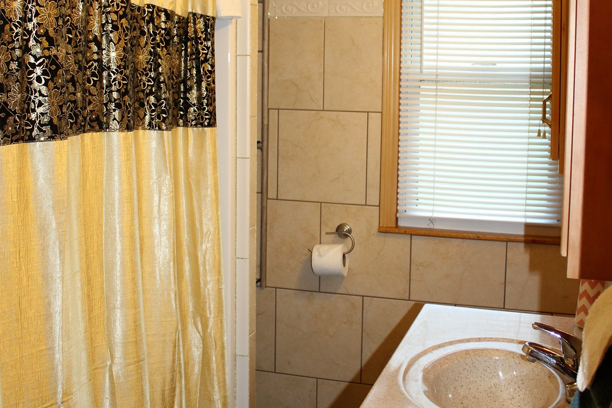 Full bath with tub/shower combo