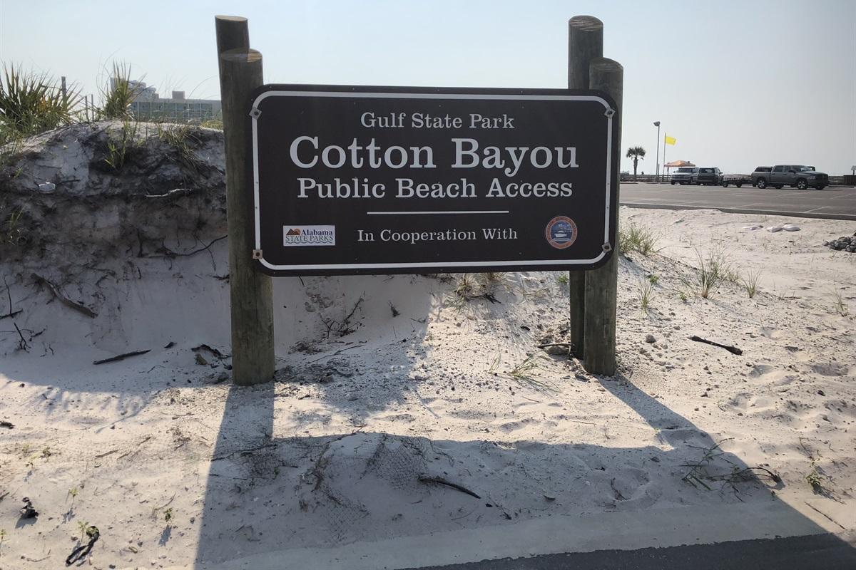Cotton Bayou Public Beach Access