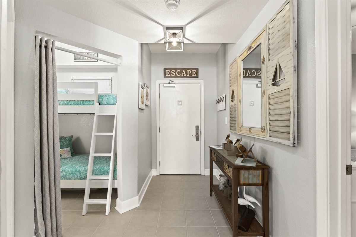 Entry way and bunk room