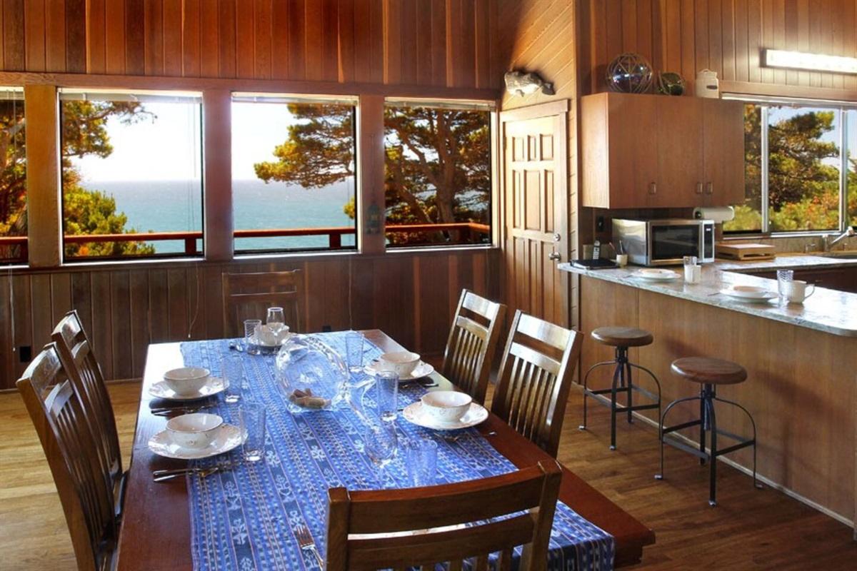 Ocean Bluff Serenity Dining Room to Kitchen