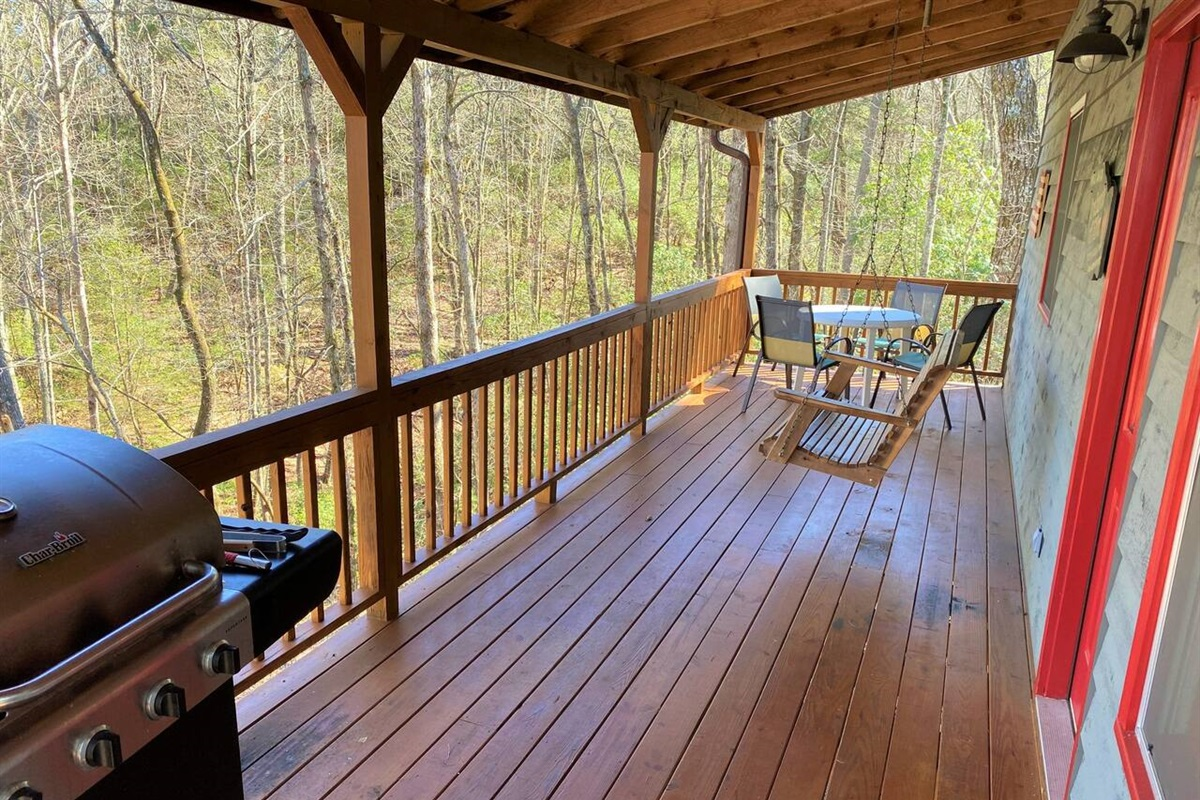 Morning coffee on the porch is one of our guests favorites!