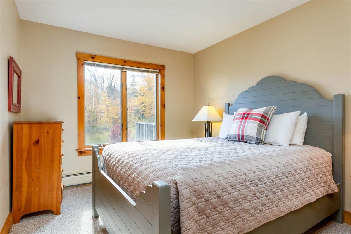 Main Floor:  Queen bed with ensuite