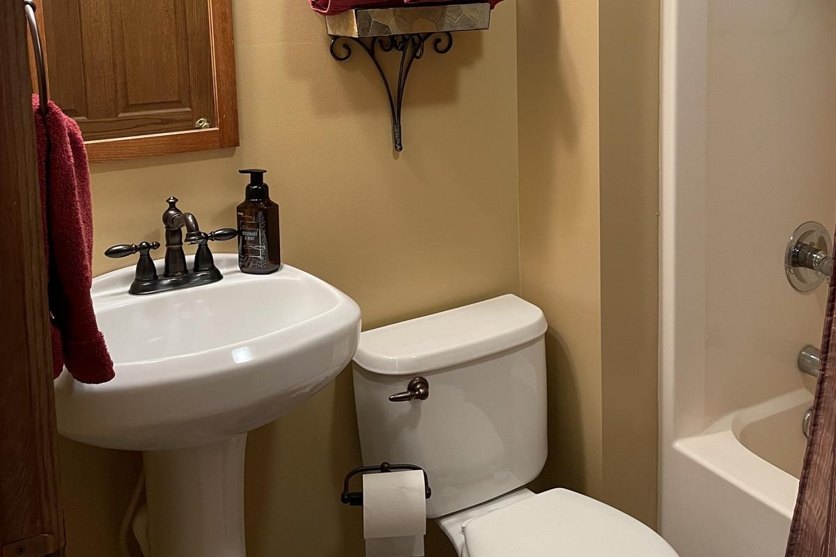 2nd Floor full bathroom off hallway