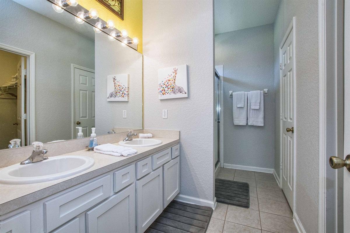 En suite bathroom for master bedroom two.