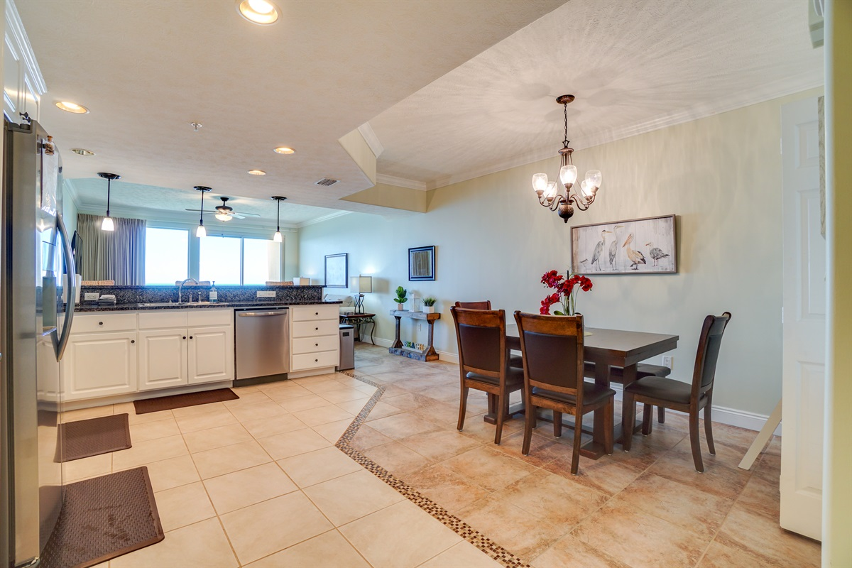 Large Open Kitchen & Dining area