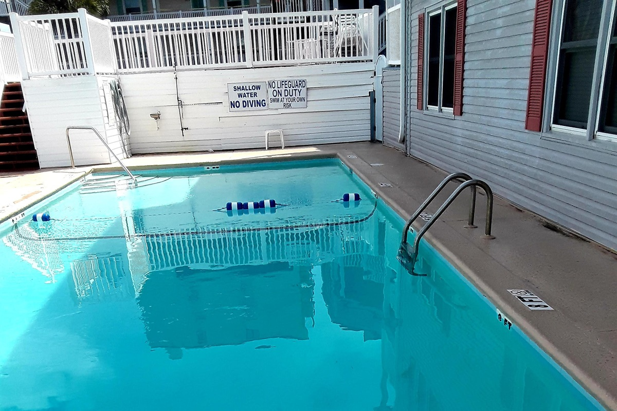 4 to 8 foot outdoor pool.