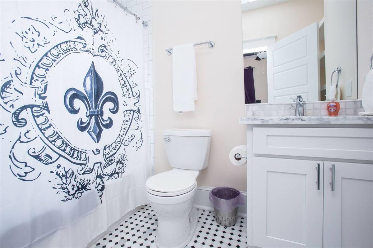 Bathroom off bedroom 4. Downstairs.