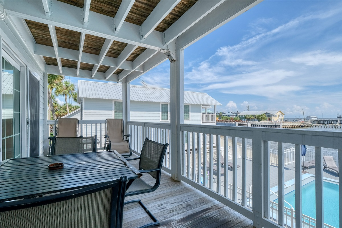 Relax with a drink on the porch and take in the views