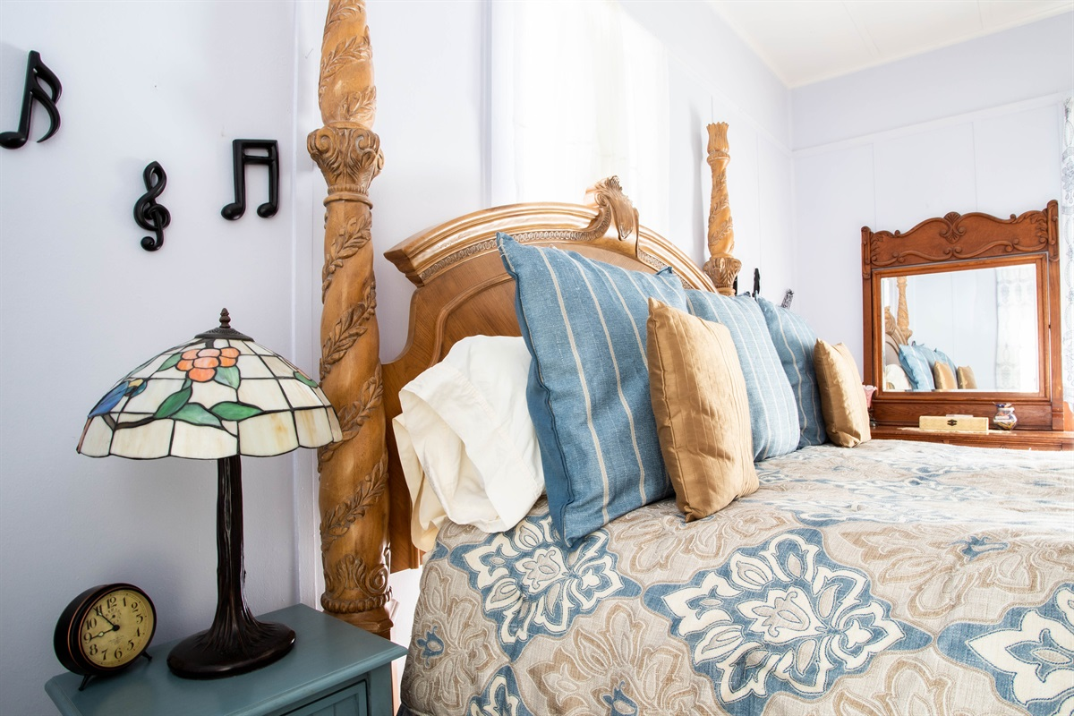 Catch some Zzzs in the Bluebonnet room's king bed