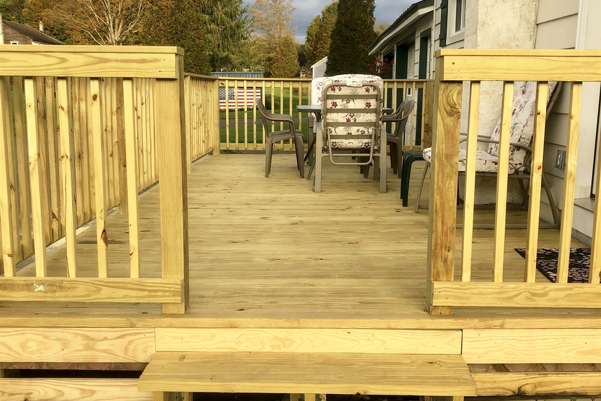 New Large rear deck