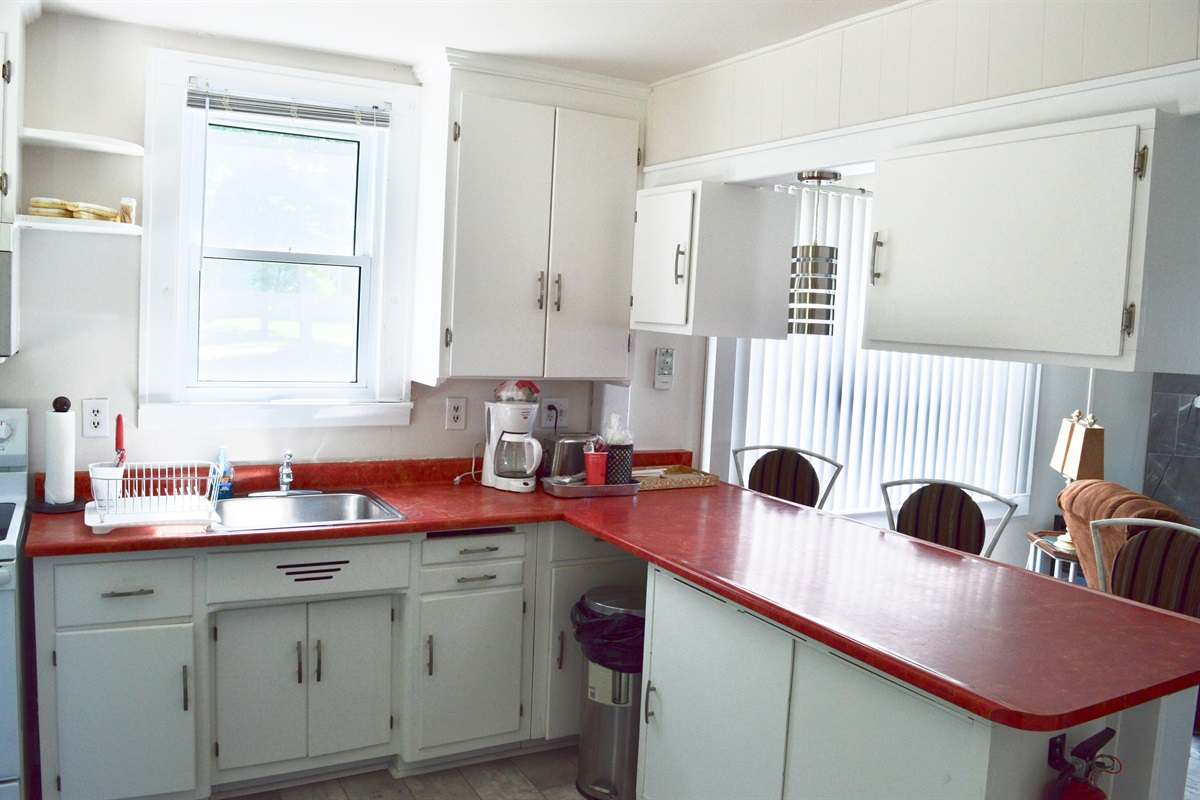 Beautiful open kitchen, allowing everyone in the common area to be together.