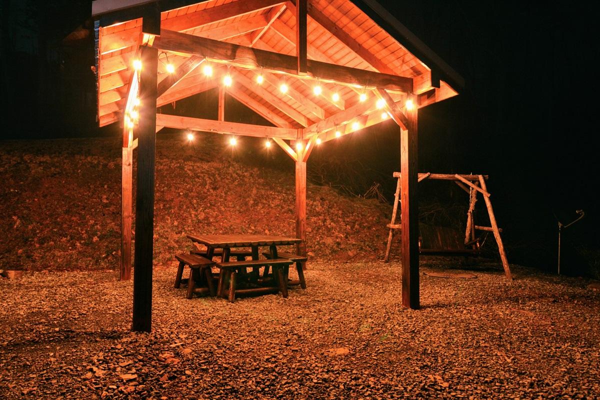 LED illuminated picnic pavilion!