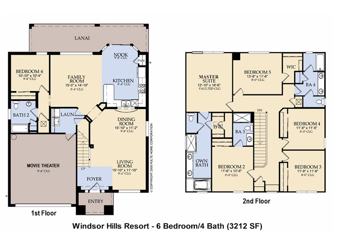 Floor Plan-Following BRs/Baths Labeled Per Plan