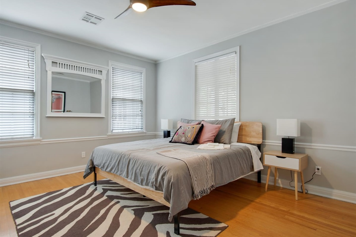 Bedroom 5. King bed.