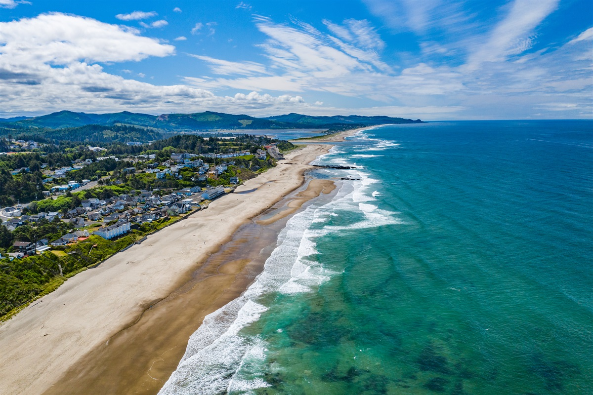 Miles of beach to walk in Lincoln City!