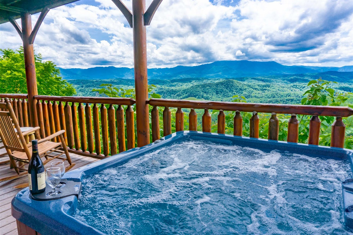 Views and a hot tub - great combination