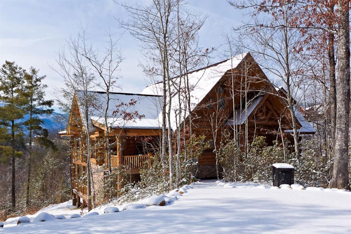 The lodge is the perfect place to gather your family for a cozy winter vacation