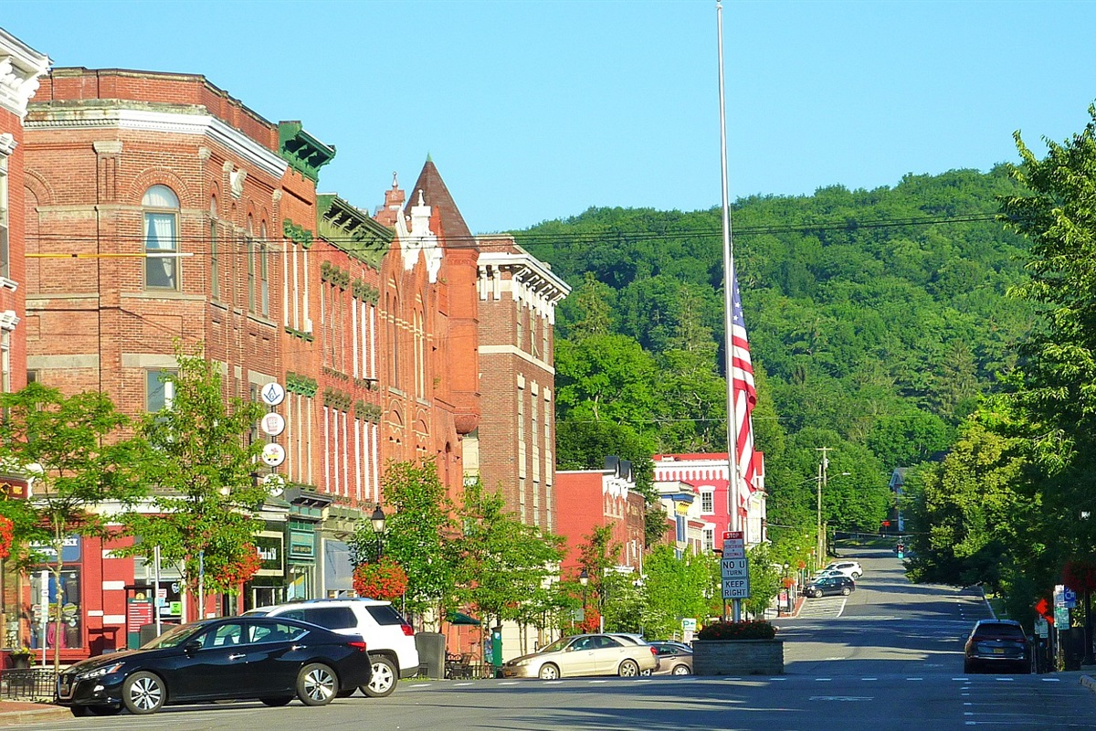 Main Street, Cooperstown, nestled in the hills of upstate NY