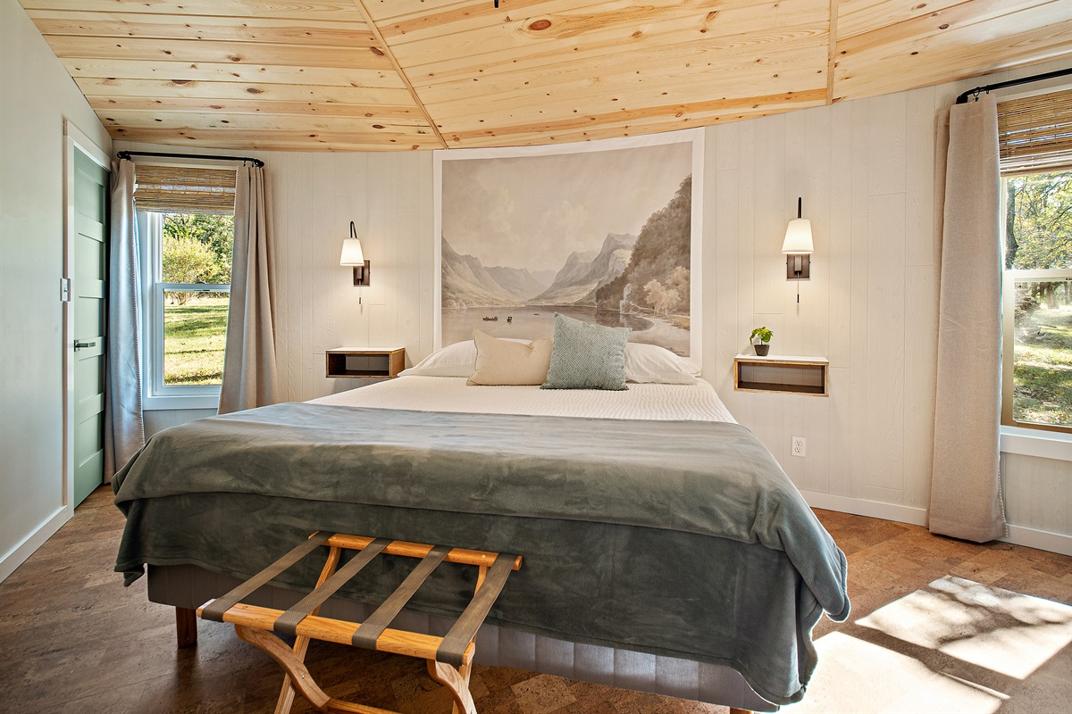 This large room boasts a soft, comfy King bed to lull you into peaceful slumber.