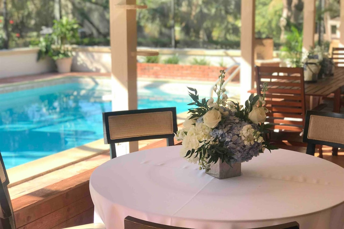 Private events by the pool