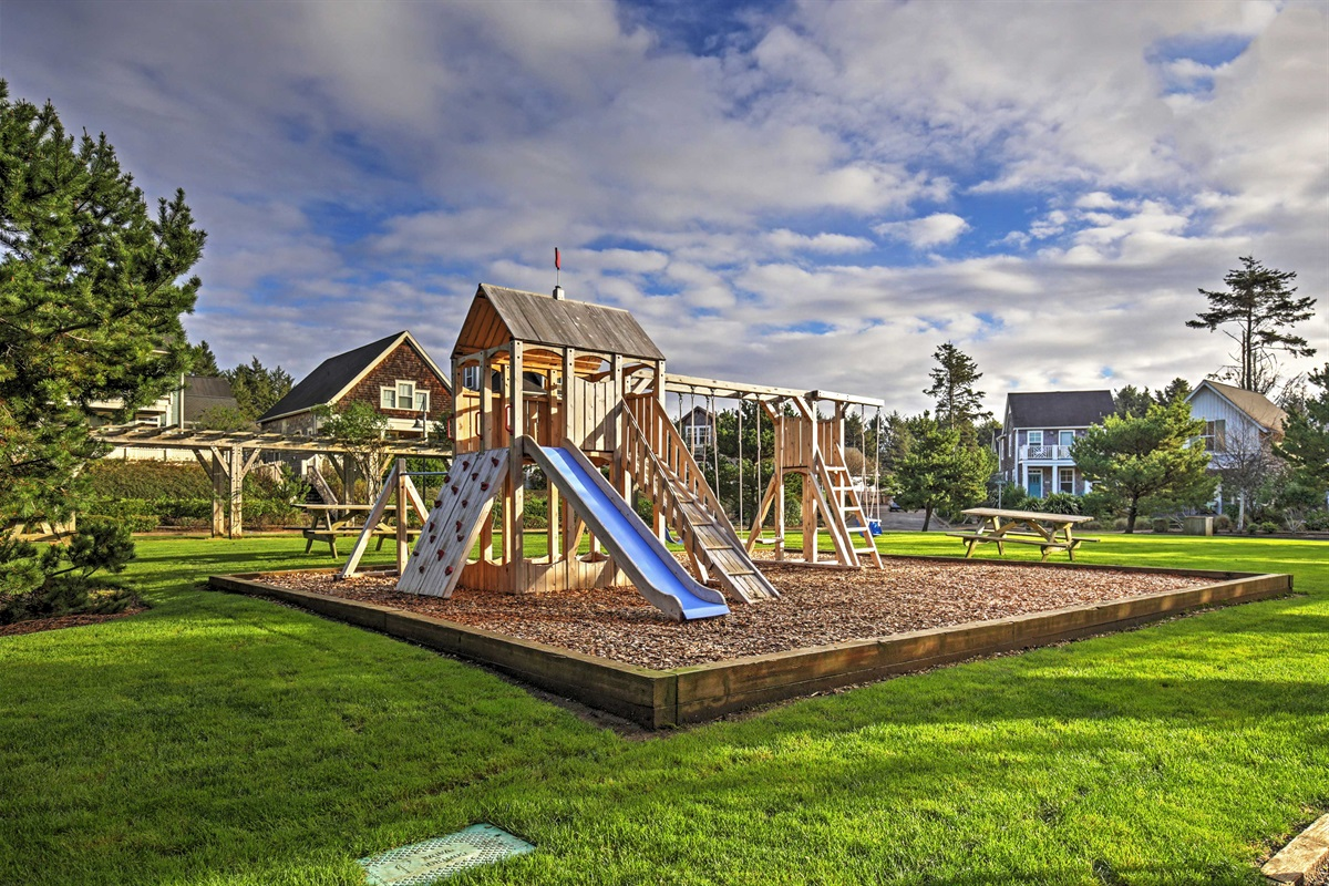 Playground is a delight for kids, as well as park wetlands.