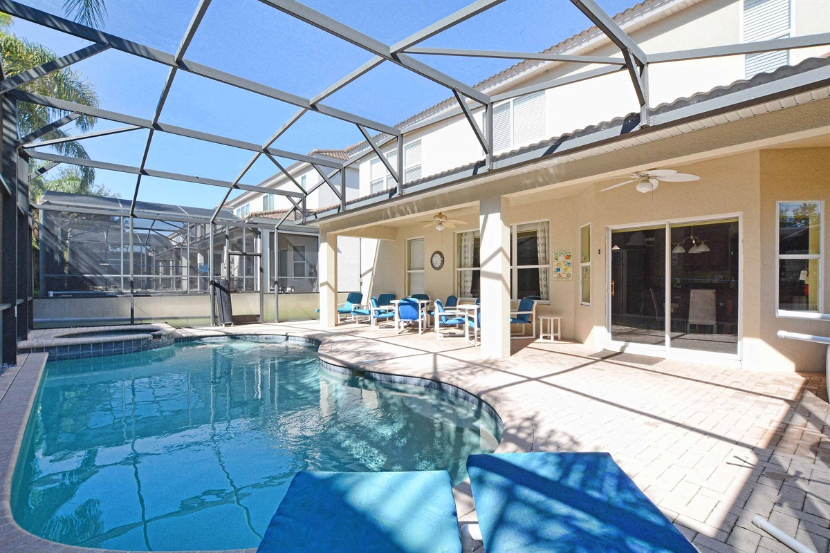 Plenty of sunshine with a south facing pool.
