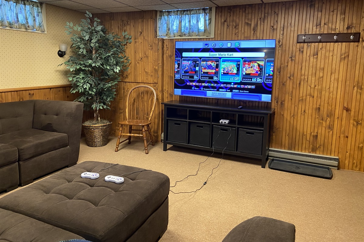 """65"""" Roku TV with gaming console"""