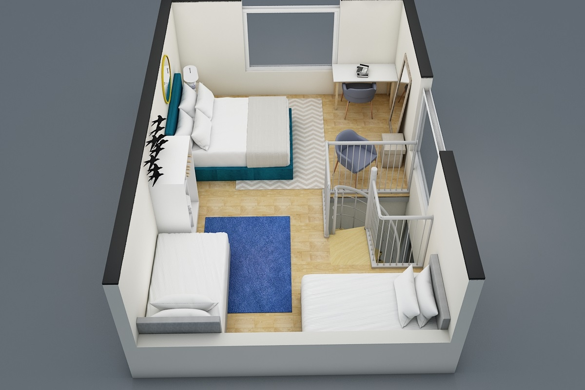 3D View of the 2nd Floor