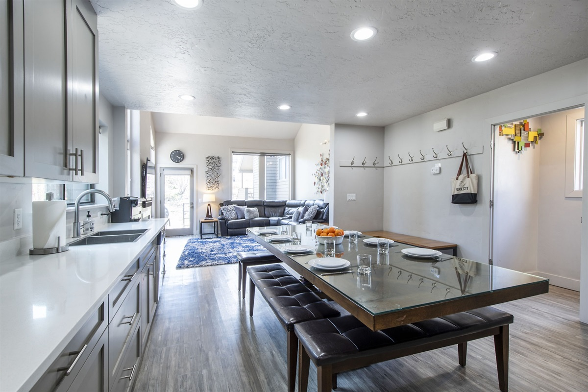 Large open plan kitchen and family room