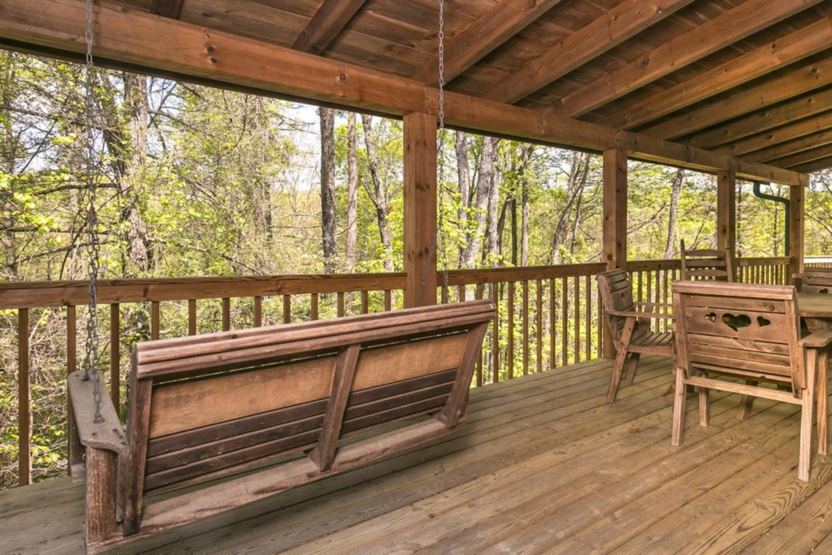 """""""We loved the porch, especially the porch swing. I'd sit and enjoy my book while everyone was getting ready for the day, it was nice!"""" - Amanda"""