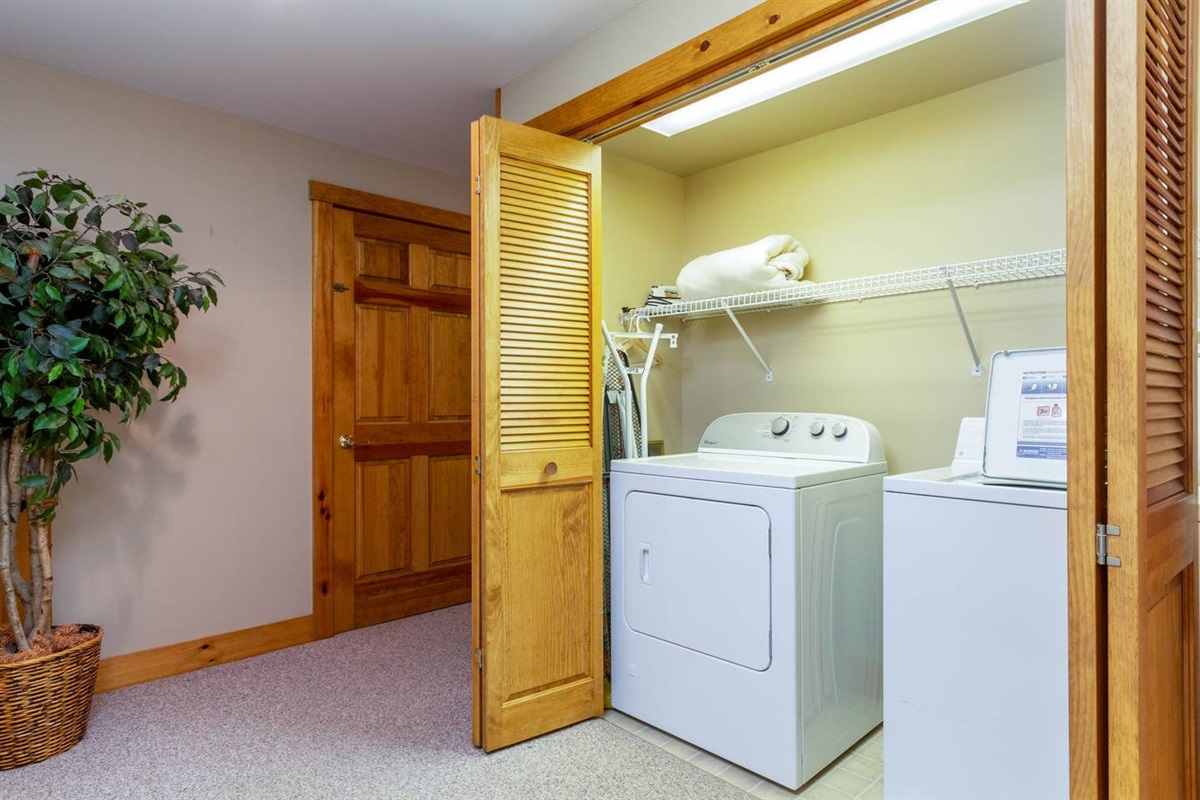 Laundry closet in Basement
