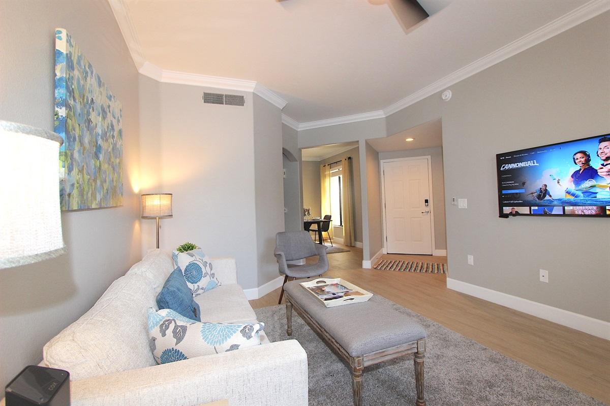 Living area-Free WIFI and ROKU streamimg
