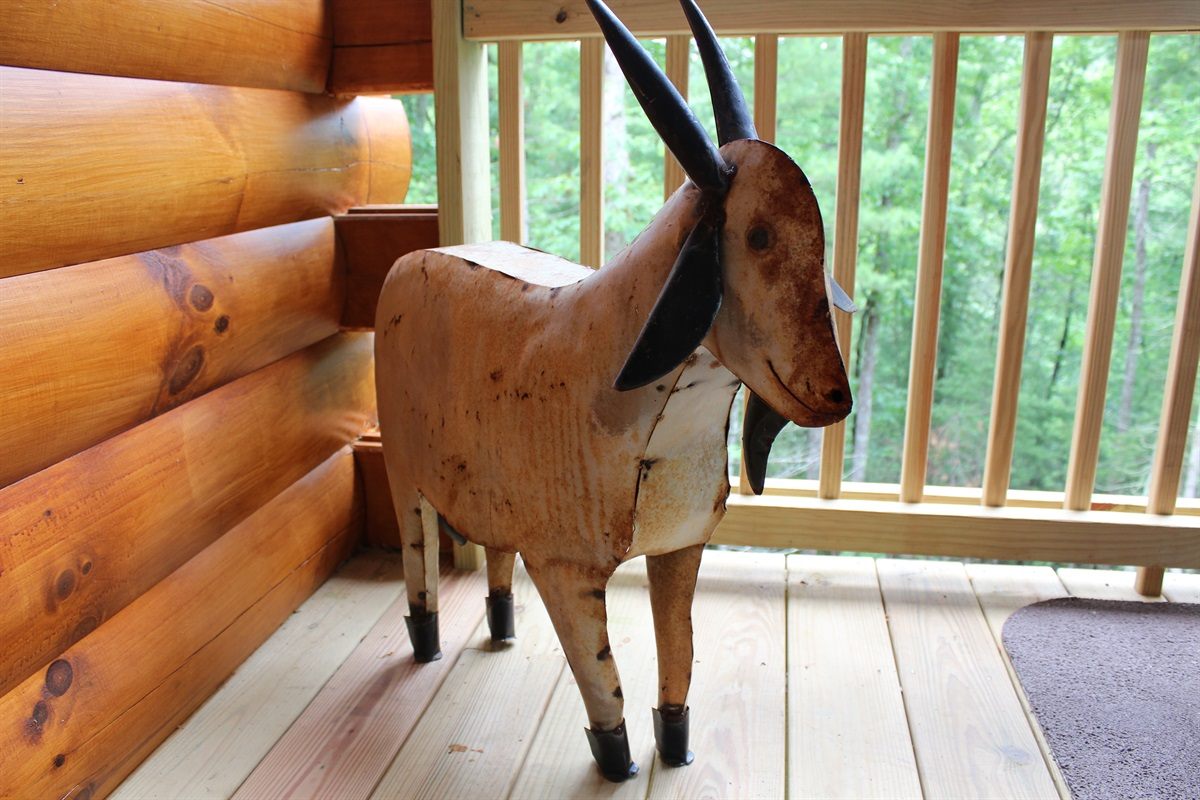Yes, we have a rusty goat!