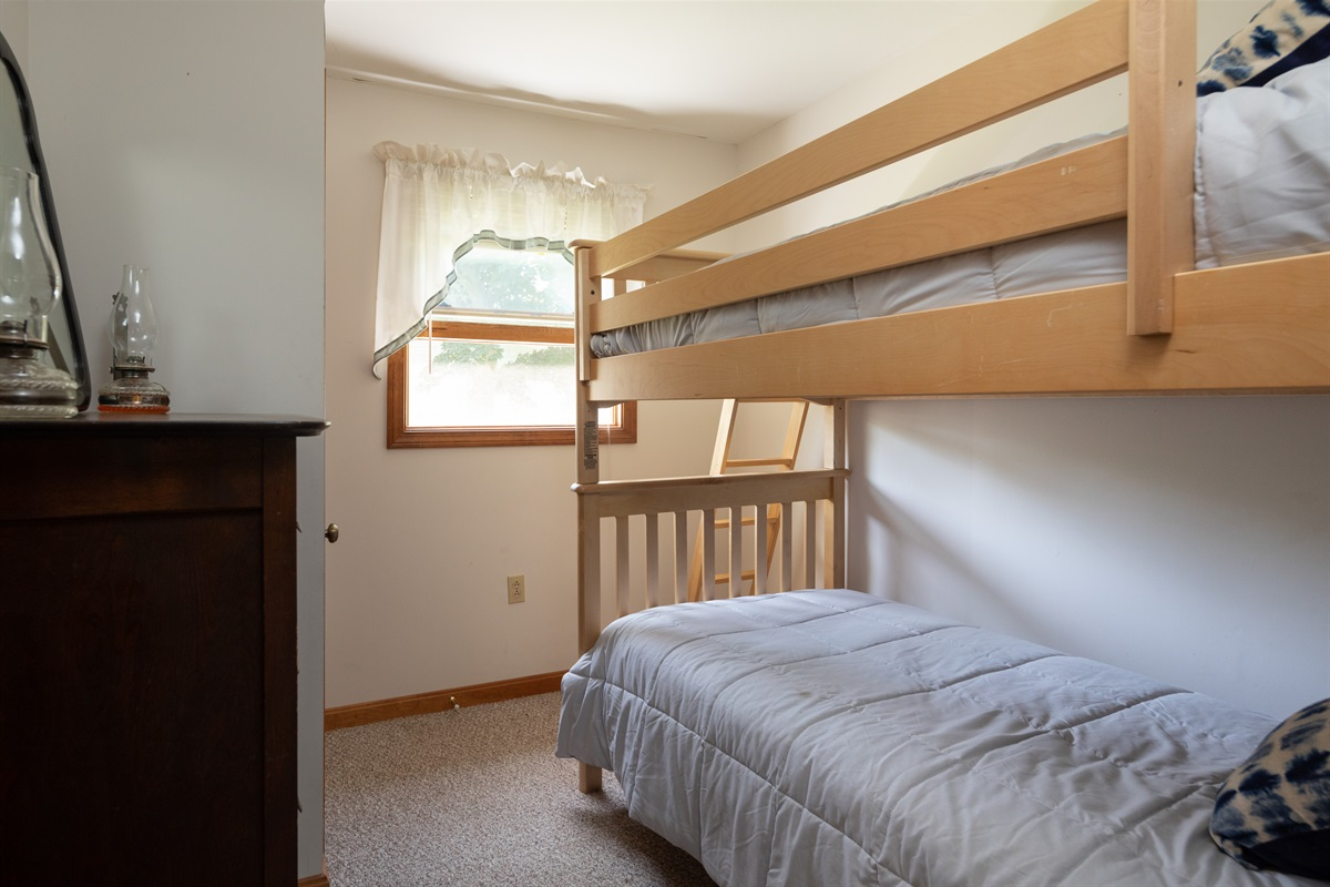 Two twin bunks in 2nd bedroom