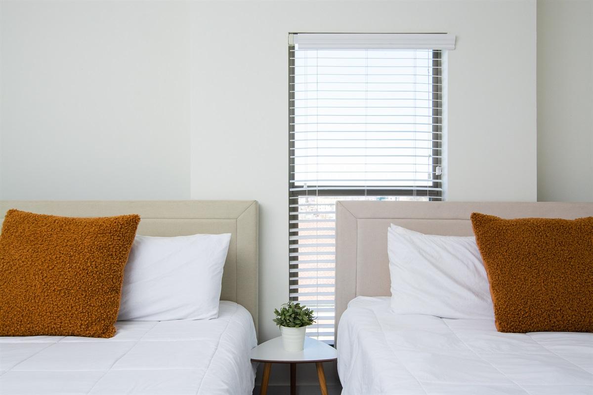 2 queen beds in bedroom #2 w/ master bath and walk-in closet
