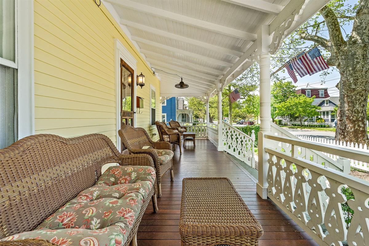 1st Floor-front mahogany porch