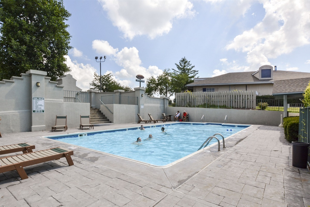 A private, secure, heated pool is available on the property