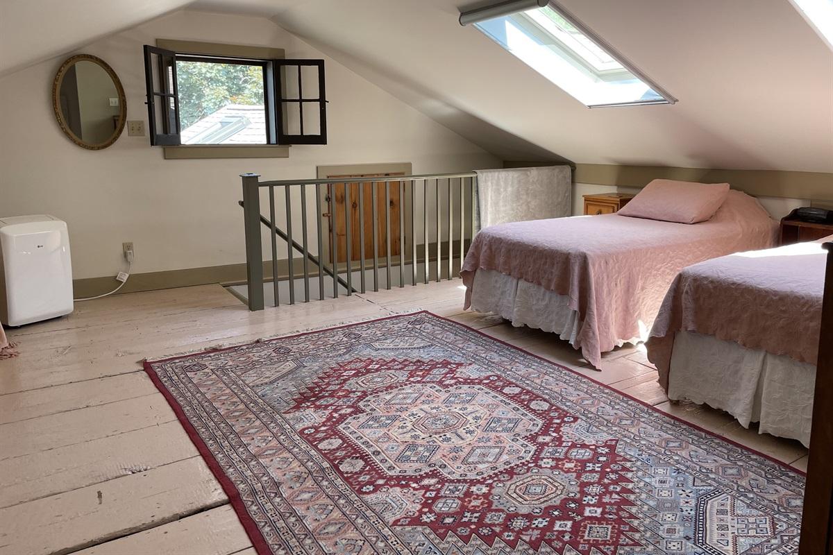 2 Twin beds in sleeping loft.