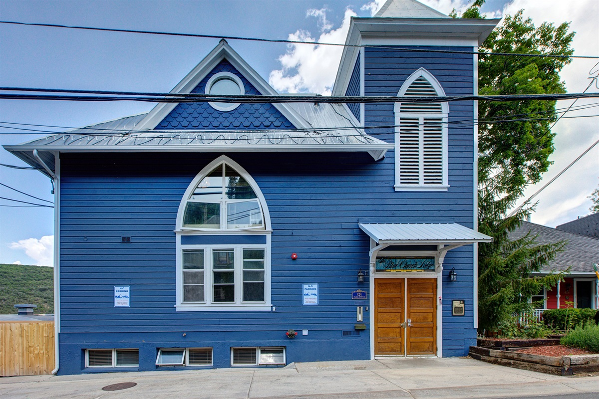 Front of Blue Church