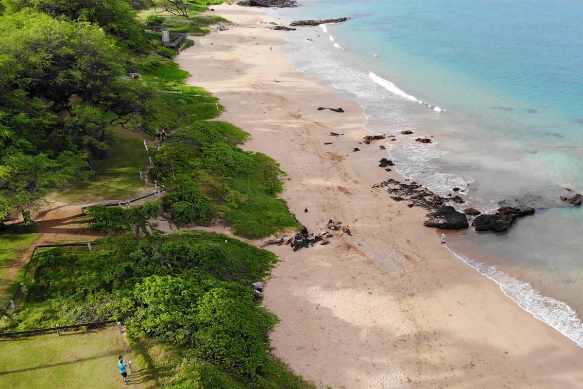Kamaole II Beach, a five minute walk