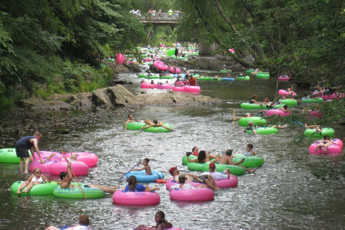 Tubing is just down the road!