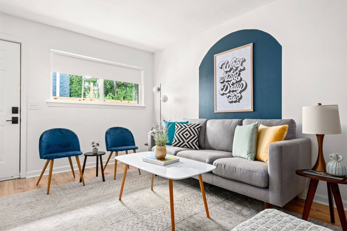 Enjoy some downtime between exploring the city in our comfortable living room