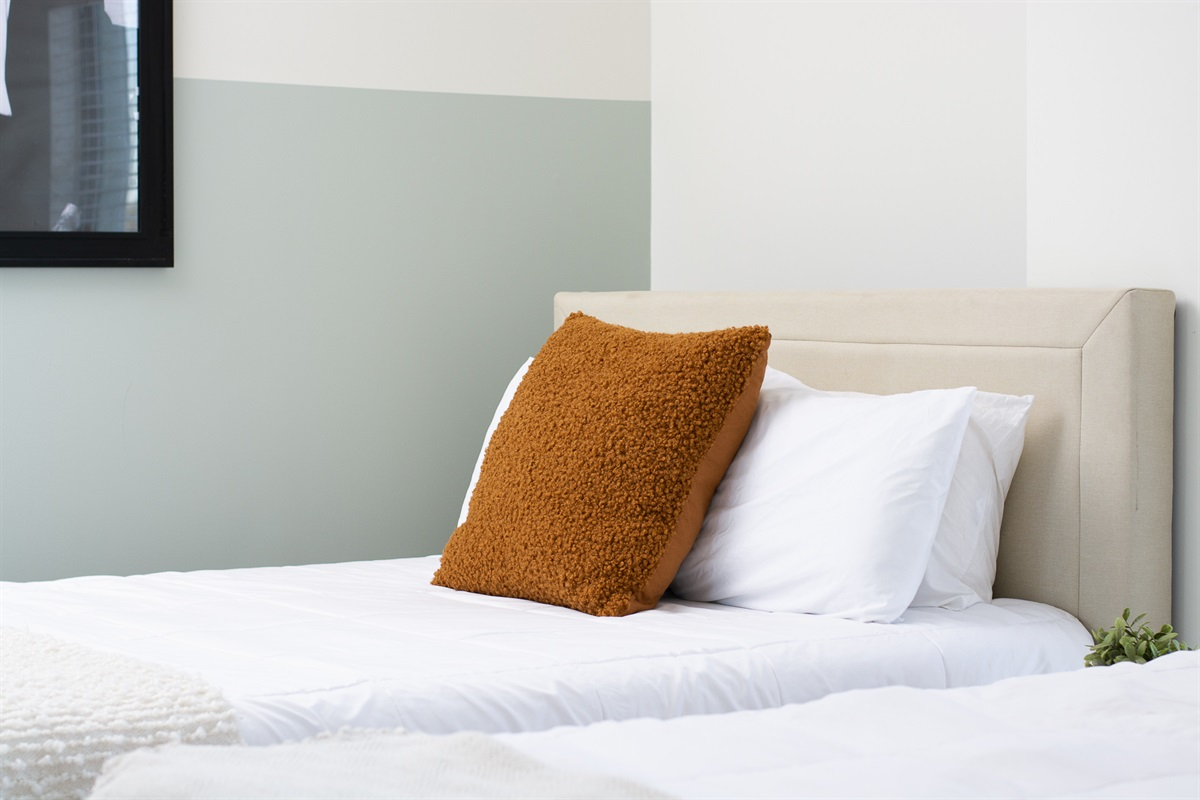 Memory foam mattresses so you're relaxed and energized for your stay in Nashville!