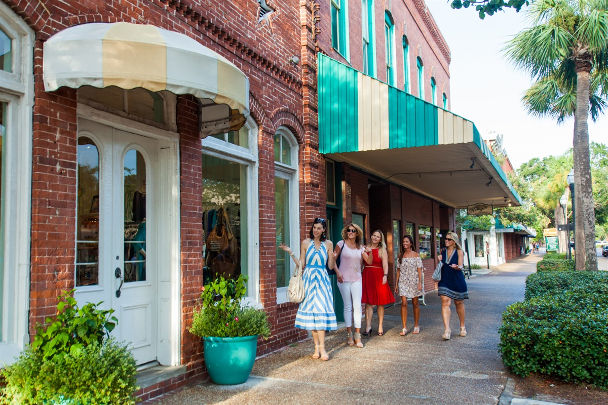 Shopping at Downtown Fernandina