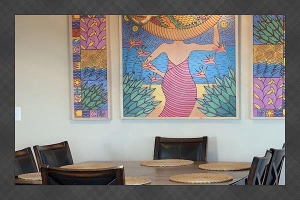 Beautiful, original artwork throughout the condo